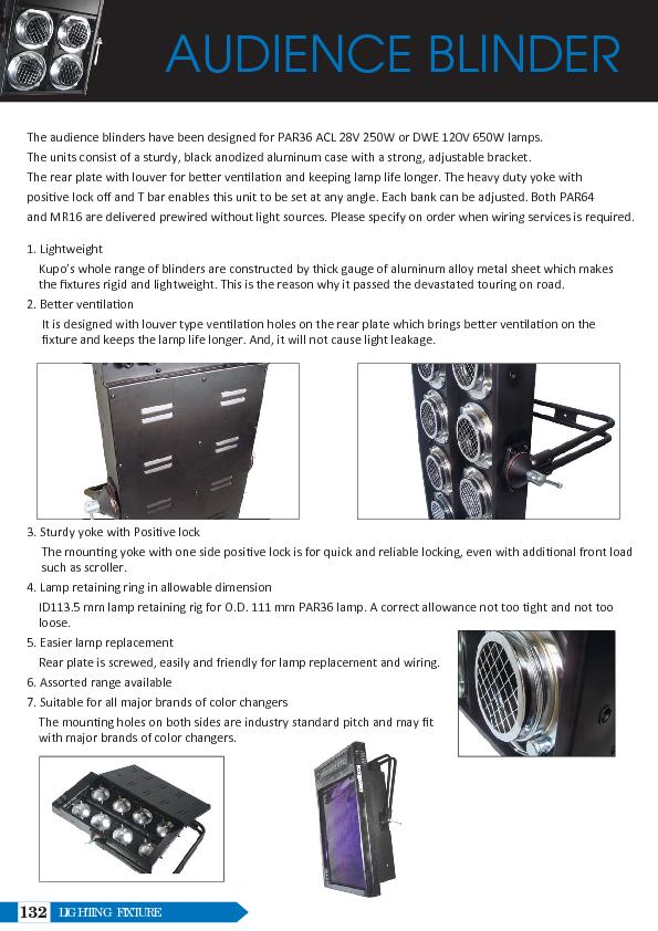 AUDIENCE BLINDERThe units consist of a sturdy, black anodized aluminum PowerPoint PPT Presentation