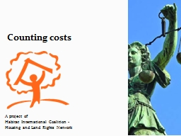 Counting costs