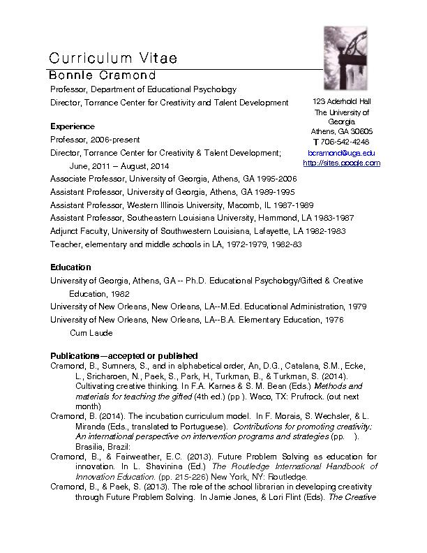 Ph.D. Educational Psychology/Gifted & Creative Education