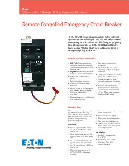 Remote Controlled Emergency Circuit Breaker