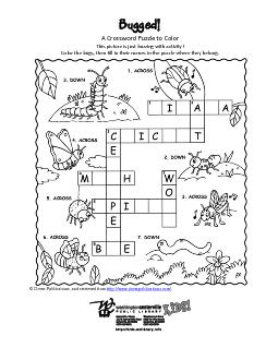 A Crossword Puzzle to Color