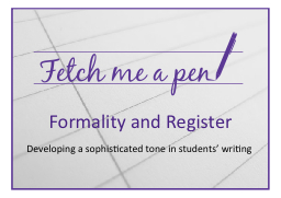 Formality and Register