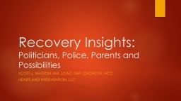 Recovery Insights: