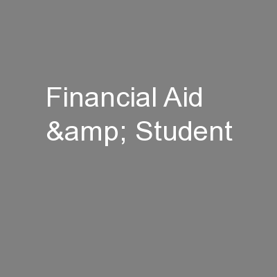 Financial Aid & Student