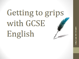 Getting to grips with GCSE