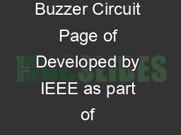 Two Button Buzzer Circuit Page of Developed by IEEE as part of TryEngineering w
