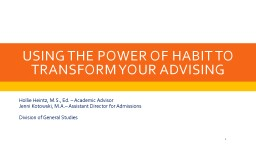 Using the Power of Habit to Transform Your Advising