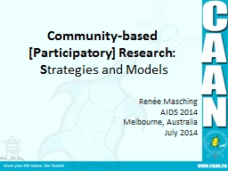 Community-based [Participatory] Research: PowerPoint PPT Presentation