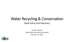 Water Recycling & Conservation PowerPoint PPT Presentation