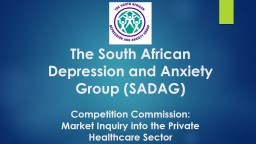 The South African Depression and Anxiety Group (SADAG)