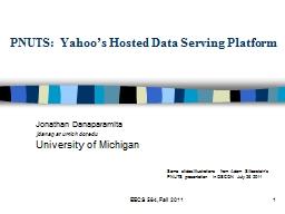 PNUTS: Yahoo's Hosted Data Serving Platform