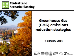 Greenhouse Gas (GHG) emissions reduction strategies PowerPoint PPT Presentation