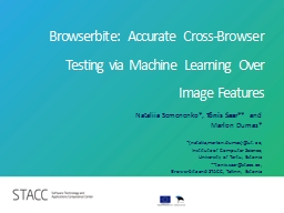 Browserbite: Accurate Cross-Browser Testing via Machine Le