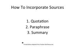 How To Incorporate Sources