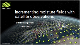 Incrementing moisture fields with satellite observations