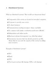 Distributed Systems What are distributed systems How