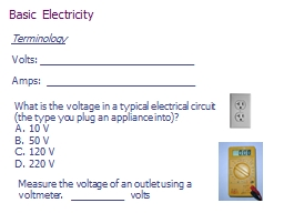 What is the voltage in a typical electrical circuit (the ty PowerPoint PPT Presentation