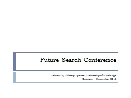 Future Search Conference PowerPoint PPT Presentation
