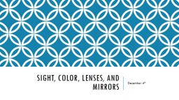 Sight, COLOR, LENSES, and MIRRORS