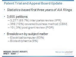 Patent Trial and Appeal Board Update