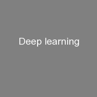 Deep learning PowerPoint PPT Presentation