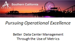 Pursuing Operational Excellence
