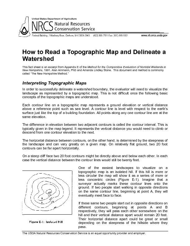 How to Read a Topographic Map and Delineate a Watershed PowerPoint PPT Presentation