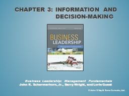 Chapter 3: Information and Decision-Making