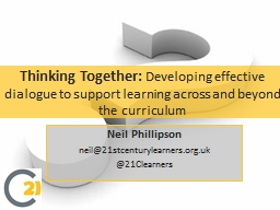 Thinking Together:
