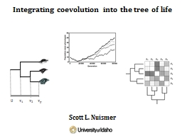 Integrating coevolution into the tree of life PowerPoint PPT Presentation