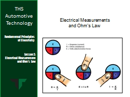 Electrical Measurements PowerPoint PPT Presentation