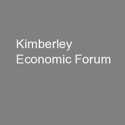 Kimberley Economic Forum
