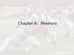 Chapter 6:Memory