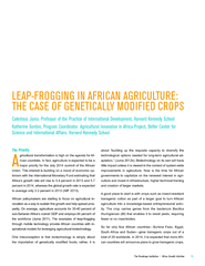 The Brookings Institution Africa Growth Initiative  LE