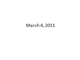 March 4, 2011