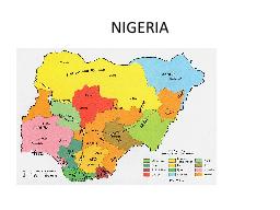 NIGERIA PowerPoint PPT Presentation