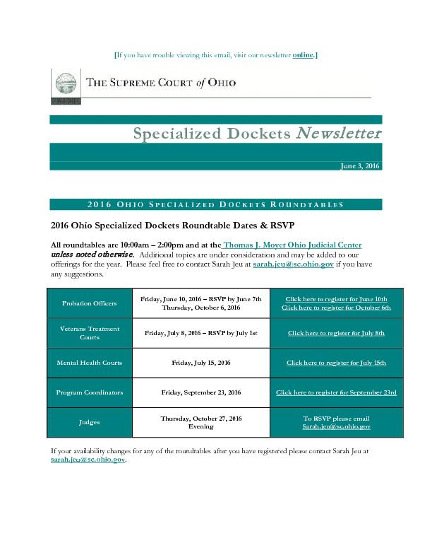 If you have trouble viewing this email, visit our newsletter online ..