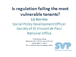 Is regulation failing the most vulnerable tenants?