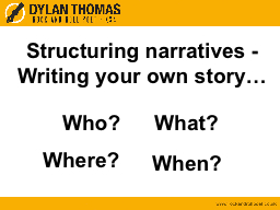 Structuring narratives -
