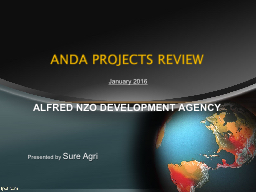 ANDA PROJECTS REVIEW PowerPoint PPT Presentation