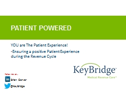 Patient Powered PowerPoint PPT Presentation