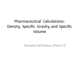 Pharmaceutical Calculations: Density, Specific Gravity, and