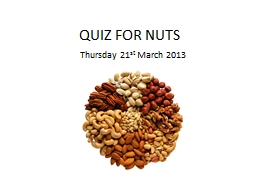 QUIZ FOR NUTS