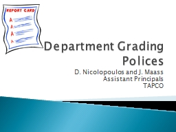 Department Grading Polices