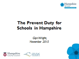The Prevent Duty for Schools in Hampshire