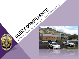 Clery compliance