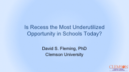 Is Recess the Most Underutilized Opportunity in Schools Tod