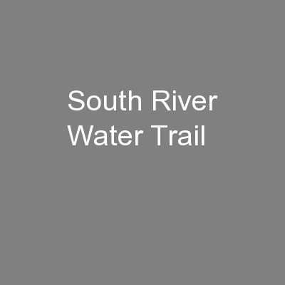 South River Water Trail