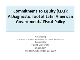 Commitment to Equity (CEQ):