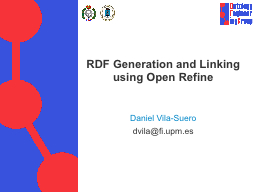 RDF Generation and Linking